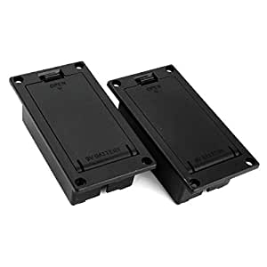 dn 9v battery case box compartment cover for guitar bass pack of 2 musical. Black Bedroom Furniture Sets. Home Design Ideas