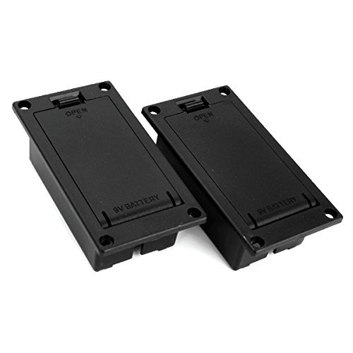 DN 9v Battery Case Box Compartment Cover For Guitar Bass (Pack of 2)