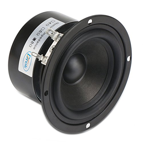 DROK 15W 3 Inches Round Tweeter Speakers Antimagnetic 8 Ohm HiFi Full-Range Speaker Strong Interference Immunity for DIY Loudspeaker Box Audio Speaker