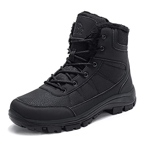 CAMEL Men's Winter Snow Boots Water Repellent Insulated Work Boot with Warm Lined Ankle Hiking Shoes