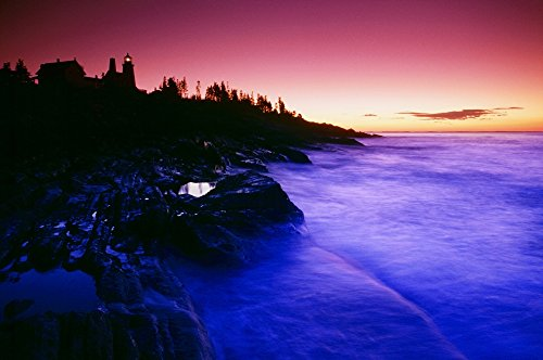 Pemaquid Point Lighthouse Bristol Maine Usa Poster Print (36 x 24)