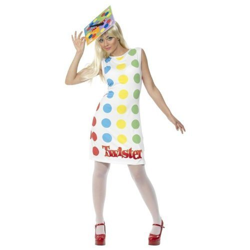 [Smiffys White/Multi Women's Twister Costume -US Dress 10-12 by Smiffy's] (Twister Game Costumes)