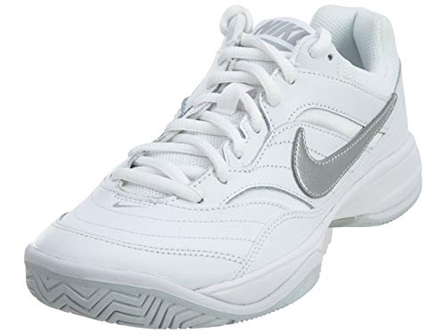 NIKE Women's Court Lite Tennis Shoe White/Matte Silver-medium Grey