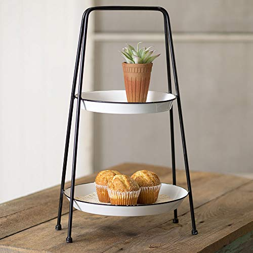 CTW Home Collection 2-Tiered Round Tray