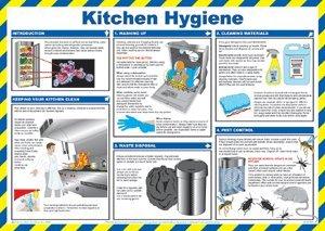Kuche Hygiene Poster Hinweisschild 590x420mm Encapsulated Paper