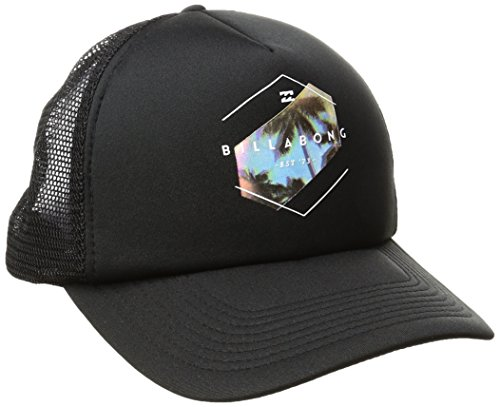 Billabong Men's Mixup Trucker Hat, Black/White, ONE (Billabong Men Hat)
