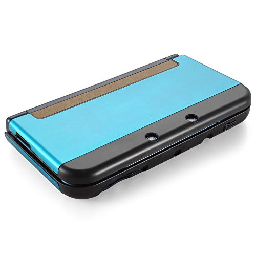 TNP Case Compatible with [ NEW Nintendo 3DS XL LL 2015 ], Light Blue - Plastic + Aluminum Full Body Protective Snap-on Hard Shell Skin Case Cover New Modified Hinge-less Design