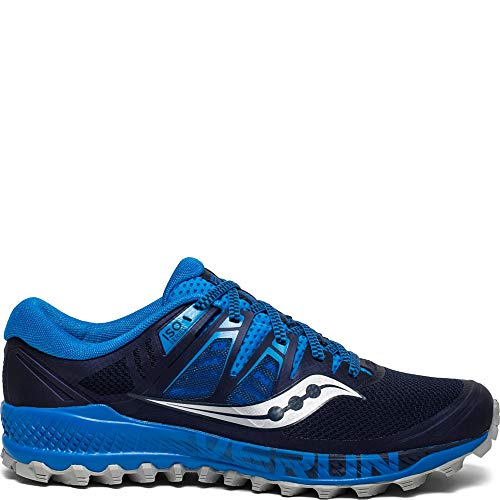 Saucony Men's Peregrine ISO Trail Running Shoe, Blue/Navy, 11.5 M US