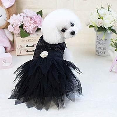 KEERADS PET Keards - Vestido de Encaje de Rosa para Perro, Vestido ...