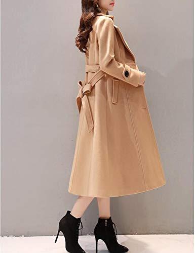 Cappotto Cammello Lana In Il XQY Lana Sopra Femminile Autunnale Lungo Invernale Lunga Cappotto Rossa E Ginocchio In Lungo A Sezione qrYYxH5wEW