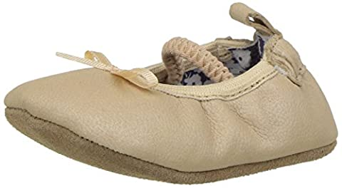 Robeez Girls Rachel Ballet Flat,Frosted Almond,18-24 Months M US Infant