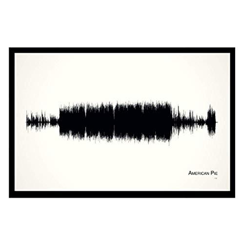American Pie - 11x17 Framed Soundwave print - Ed Hand Numbered Fine Art