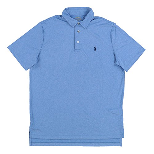 Polo Ralph Lauren Mens Performance Polo Shirt (Medium, Soft Royal Heather)