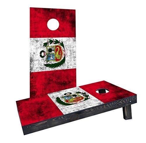 新品同様 Custom Cornhole Boards CCB1211-2x4-C Worn National National (Peru) (Peru) Flag Cornhole Cornhole Boards [並行輸入品] B07HLFKLV5, 天王寺区:136dd3f3 --- arianechie.dominiotemporario.com