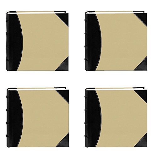 Pioneer High Capacity Sewn Fabric and Leatherette Cover Photo Album, Black on Beige (4)