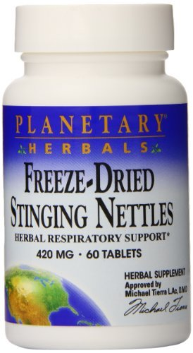 Planetary Herbals Freeze Dried Stinging Nettles Tablets, 60 Count by Planetary Herbals ()