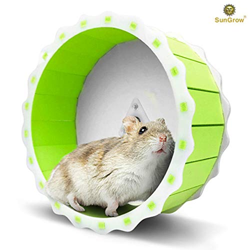 Hamster Spinner Wheel --- Quiet Exercise Toy - Installation in Less Than 5 Minutes - Keeps Small Pets Active & Entertained - Durable PVC Plastic Material - 6.5