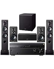 Sony Sistema de cine en casa multimedia con sonido envolvente 3D 4K A/V de 7.2 canales (STRDN1080, SSCS3 (2), SSCS5, SSCS8, SACS9) (6 artículos)