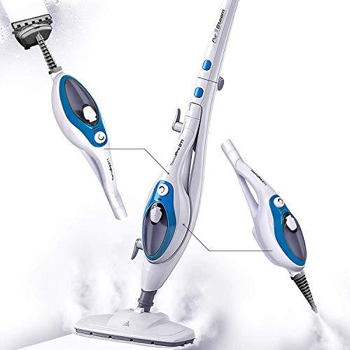 Steam Mop Cleaner 10-in-1 with Convenient Detachable Handheld Unit, Laminate/Hardwood/Tiles/Carpet Kitchen – Garment…