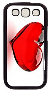 cases carry Red Glossy Heart PC Black case/cover for Samsung Galaxy S3 I9300