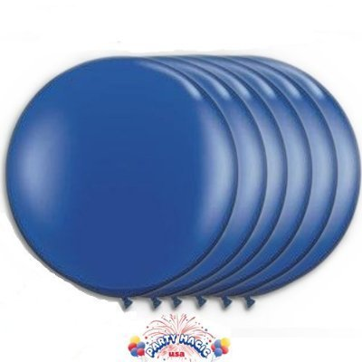 36 Inch Latex Balloon Dark Blue (Premium Helium Quality) Pkg/6