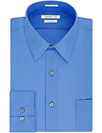 Van Heusen Men's Poplin Regular Fit Solid Point Collar...
