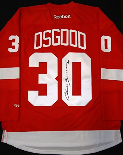 CHRIS OSGOOD AUTOGRAPHED DETROIT RED WINGS HOME JERSEY