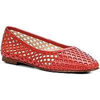 Sapatilha Couro Shoestock Bico Redondo Vazada Feminina