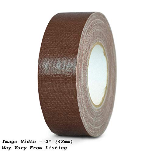 MAT Duct Tape Dark Brown Industrial Grade - 3 in. x 60 yds. - Waterproof, UV Resistant for Crafts, Home Improvement, Repairs, Projects (Available in Multiple Colors) -