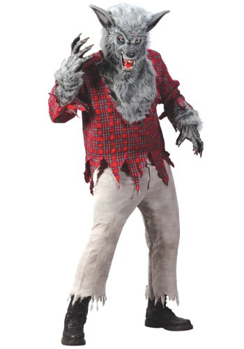 Fun World Silver Werewolf Costume Small (Adult Silver Werewolf Costume)