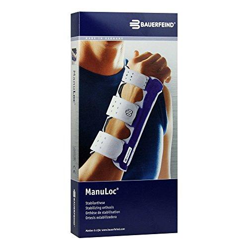 Bauerfeind Unisex ManuLoc Wrist Support, Titanium, 2 - Usa Short Support Wrist