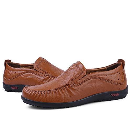 Marrone in Comfortable nero Shoes Wearing Shoes pelle Mocassino Mocassino gommino 5cm Penny's Hcwtx Scarpe Driving marrone 28 Love uomo 24 Shoes 0cm da da barca Dimensioni Onqx47I