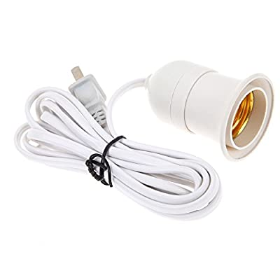 Zehui E27 Plug-in Spot Lamp Light Bulb Holder on/off Switch Two-phase Plug 3M Multi-direction