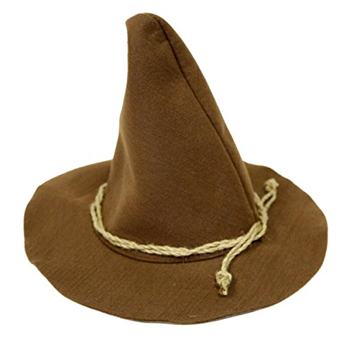 Jacobson Hat Company Scarecrow Hat With Rope Band,Brown,One (Adult Wizard)