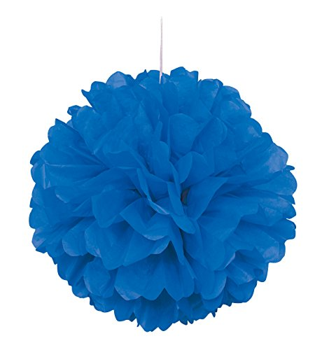 16 Royal Blue Tissue Paper Pom Pom