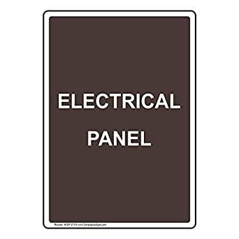 ComplianceSigns Vertical Vinyl Electrical Panel Labels, 5 x 3.50 in on electric box labels, example panel labels, plastic panel labels, circuit panel labels, electric motor labels, electric meter labels, industrial panel labels, water heater labels, solar panel labels, engraved electrical panel labels, electric wire labels, roof labels, square d breaker panel labels, automotive panel labels, electric lights, control panel labels, heating panel labels, dc panel labels,