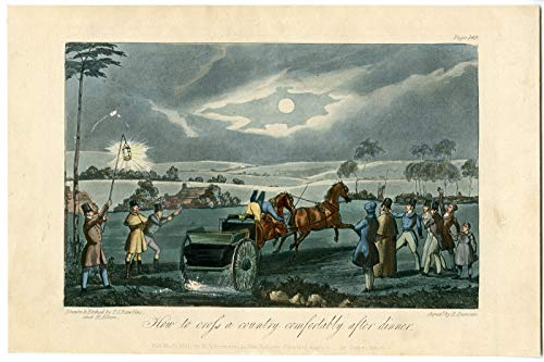 ThePrintsCollector Antique Print-Night SCENE-COACH-HORSE-LANDSCAPE-Alken-Duncan-1851 ()