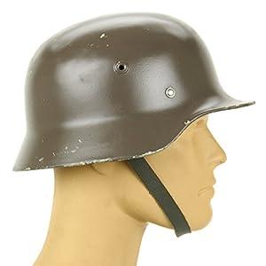 Original German M40 WWII Type Steel Helmet- Finnish M40/55, Size 55cm, US 6 7/8