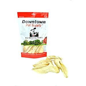 Downtown Pet Supply All Natural Lamb Ears for Dogs, Healthier Dog Training Chew Treats Than Pig Ears and Rawhide – High Protein Treats for Dogs (12-Pack)