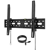【2018】Fortress Mount TV Wall Mount for 40-75 TVs up to 165 lbs with 9-feet Braided HDMI Cable