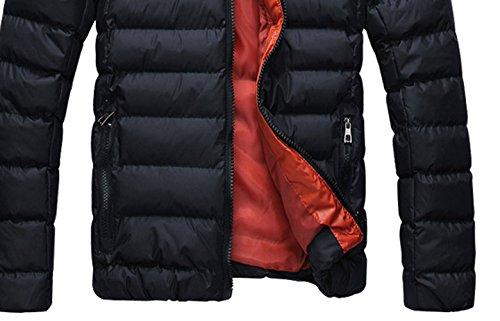 anorak con 2014 abrigo M Abrigo abajo capucha sudadera invierno Negro SODIAL chaqueta Rojo R Hombres Caliente y wpqqzHX