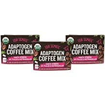 Four Sigmatic USDA Organic Whole30 Vegan Adaptogen Coffee Mix - Hack Stress wtih Tulsi & Astragalus - Pack of 3 (10 Instant Coffee Packets Each)