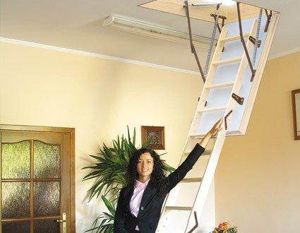 Dachbodentreppe EXTREME (Holz) 1200x700 Bodentreppe U-Wert 0, 55 W/m² K 4IQ