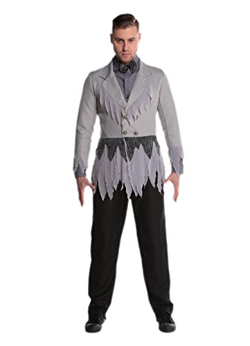 JJ-GOGO Zombie Costume for Men - Halloween Infected