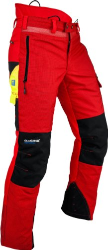 Pfanner Ventilation Schnittschutzhose Klasse 1 Gladiator Gewebe, Farbe:rot;Größe:M