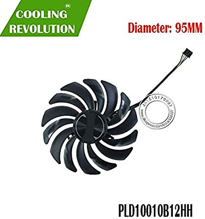 Fans & Cooling - Brand new original authentic graphics card fan PLD10010B12HH DC12V 0.40A for MSI GeForce RTX 2070 ARMOR 8G OC (Black connector)
