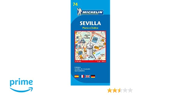 Plano Plegable Sevilla (Planos Michelin): Vv.Aa: Amazon.es ...