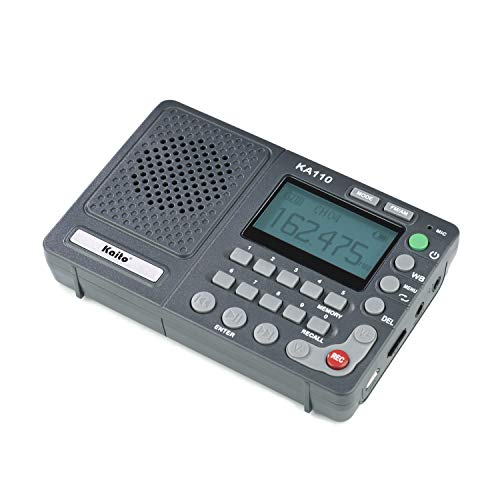 Kaito KA110 Compact Digital AM/FM NOAA Weather Radio and MP3 Player with Micro-SD Card Reader