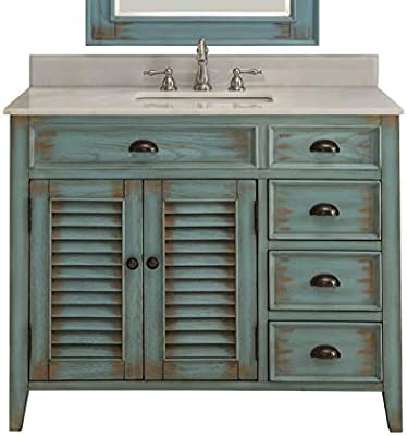 Phenomenal 42 Benton Collection Distress Blue Abbeville Bathroom Sink Vanity Cf 78888Bu Home Interior And Landscaping Mentranervesignezvosmurscom