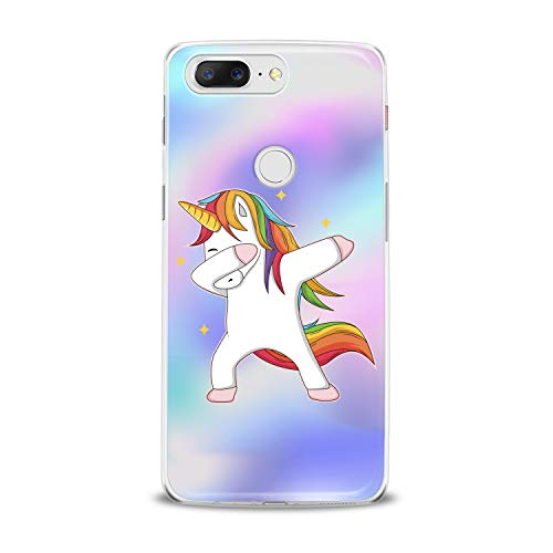 Lex Altern TPU Case for OnePlus 7 Pro 6T 6 2019 5T 5 2017 One+ 3 1+ Cute Colorful Unicorn Clear Pattern Kids Cover Silicone Print Kawaii Horse Protective Girls Teen Design Women Gift Magical Animal